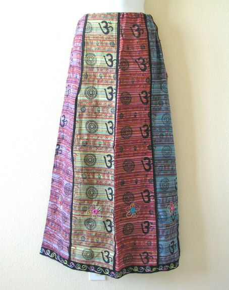 PS150 - Embroidered Patchwork Maxi Skirt